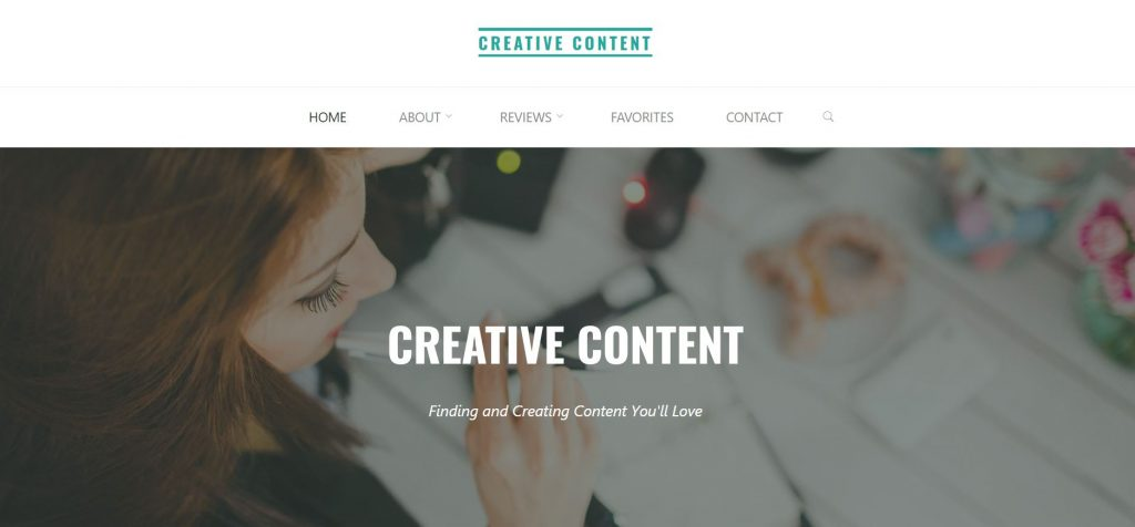 Creative-content.net home page