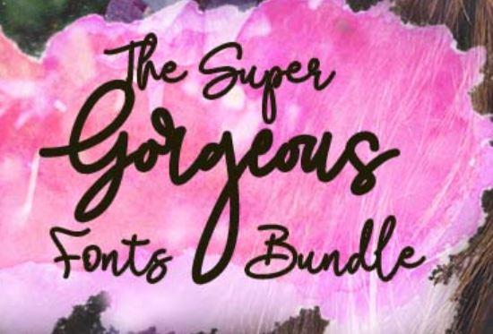 Super Gorgeous Fonts Bundle