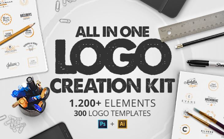 All in one logo creation kit